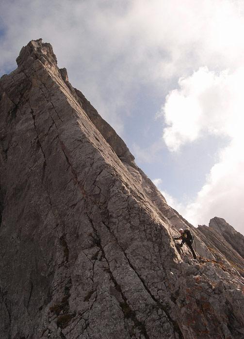 Roggalkante Klettern Vorarlberg © Alex Klampfer Bergführer Vorarlberg