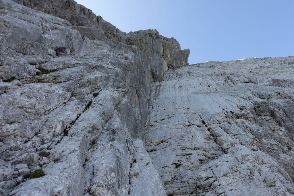 Klettern Kirchlispitzen Nord Verschneidung © Alex Klampfer Bergführer Vorarlberg