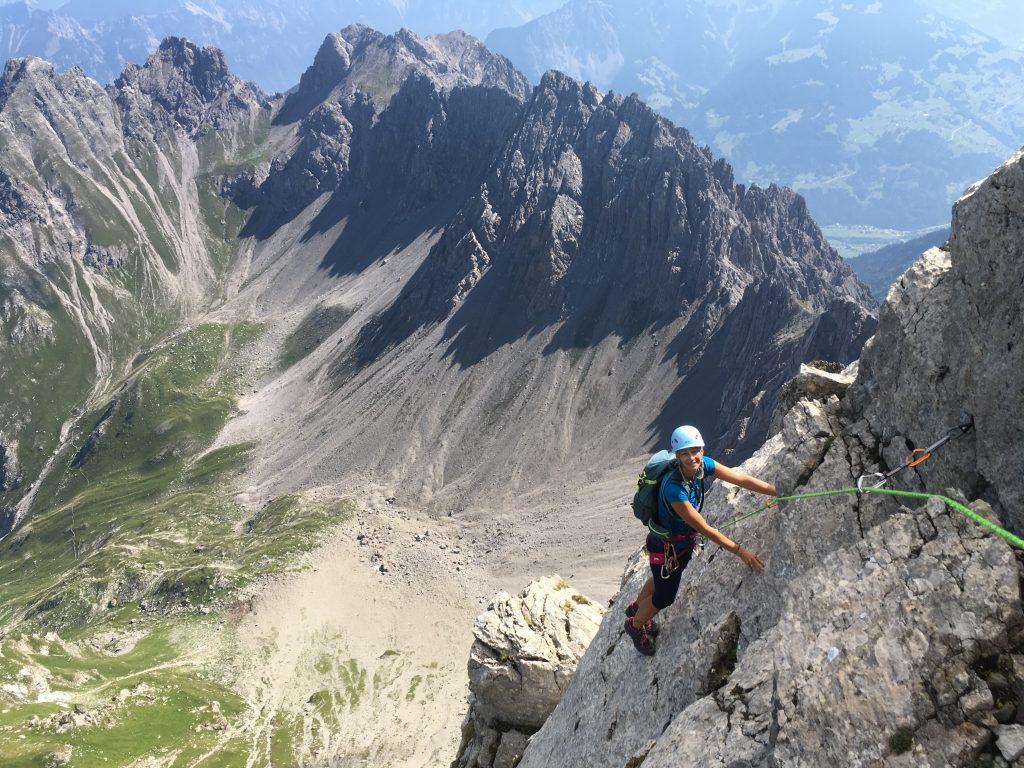 Klettern Zimba Ostgrat © Alex Klampfer Bergführer Vorarlberg