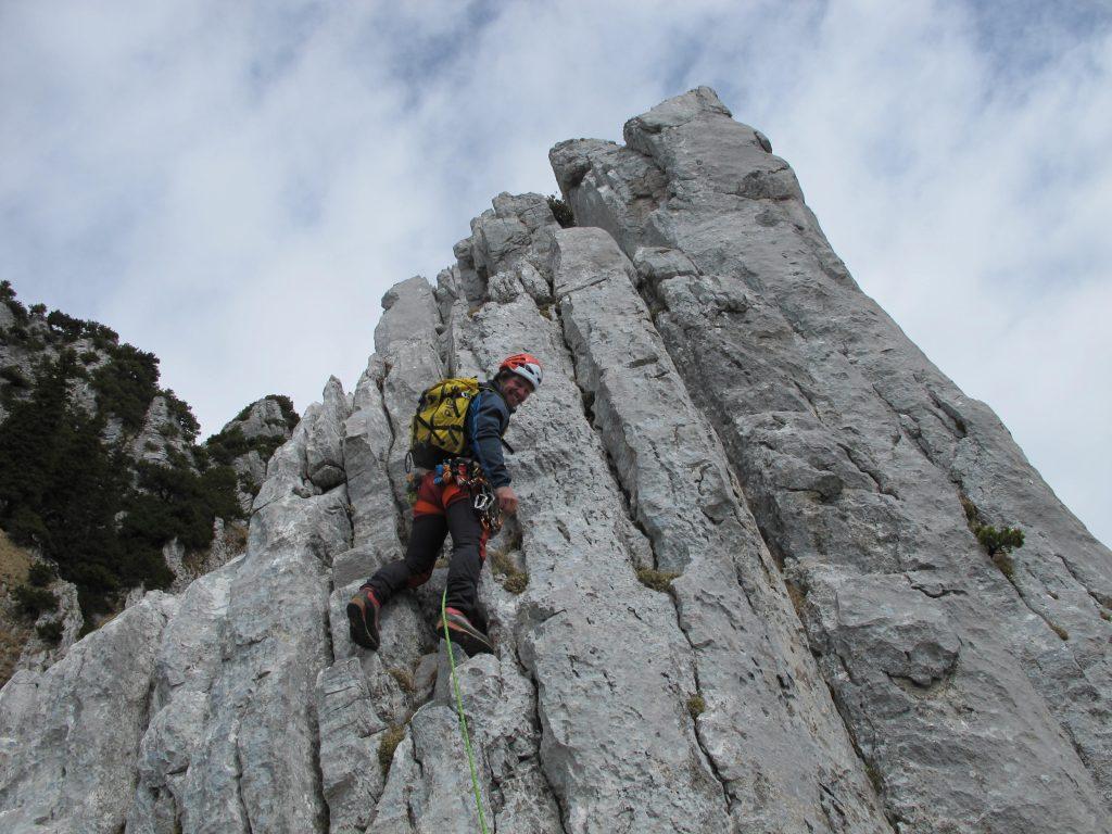 Klettern Schafbergkante Wildhauser Schafberg © Alex Klampfer Bergführer Vorarlberg
