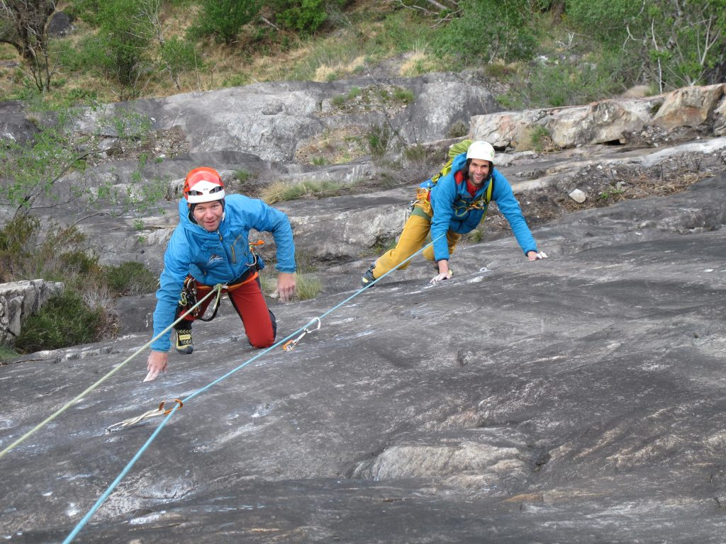 Klettern Mehrseillängen © Alex Klampfer Bergführer Vorarlberg