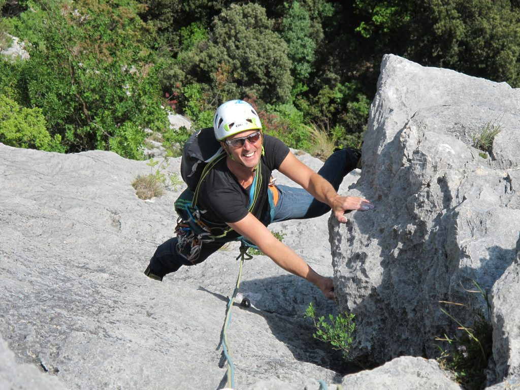 Klettern Sarchetal Italien © Alex Klampfer Bergführer Vorarlberg