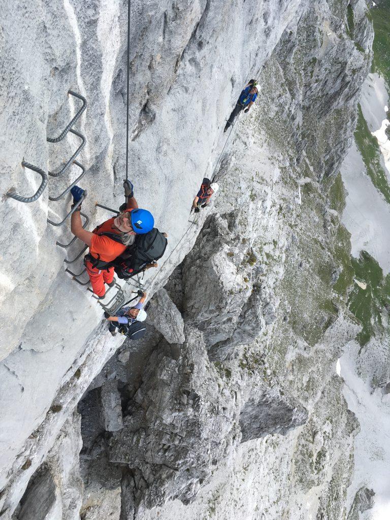 Klettersteig Sulzfluh © Alex Klampfer Bergführer Vorarlberg