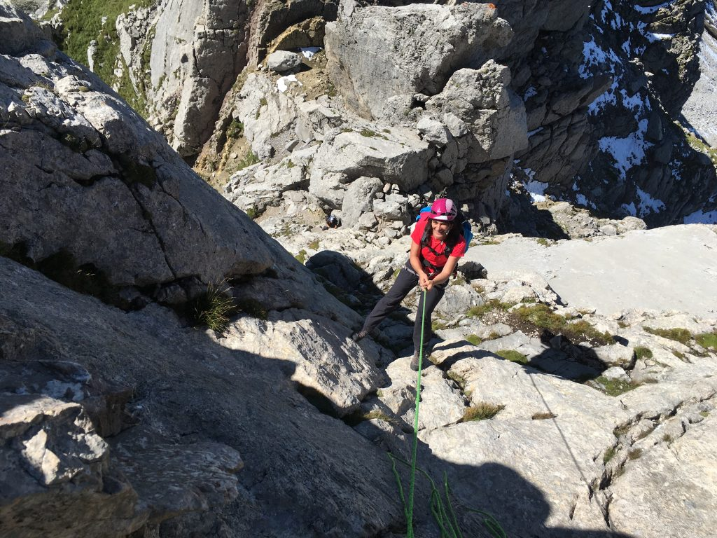 Zimba Sohmplatte Abseilen Westgrat Normalweg © Alex Klampfer Bergführer Vorarlberg