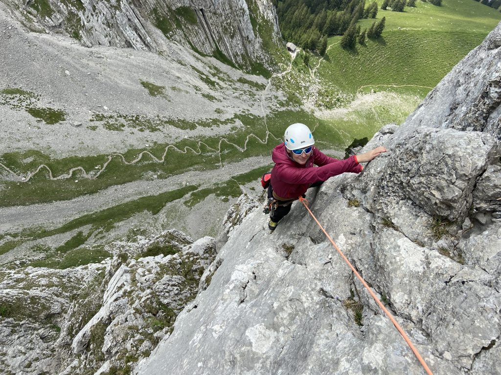 Klettern Bockmattli Namenlose Kante @Alex Klampfer