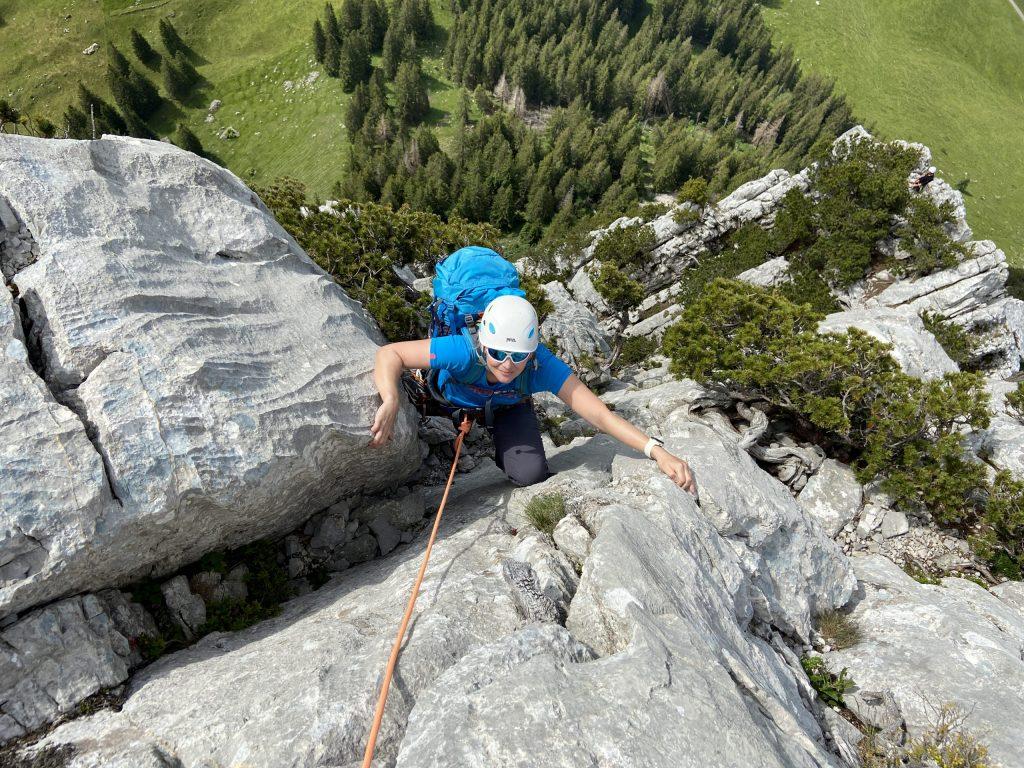 Klettern Schafbergkante Wildhause @Alex Klampfer